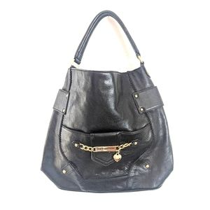 Juicy Couture 100% Black Leather Bucket Purse